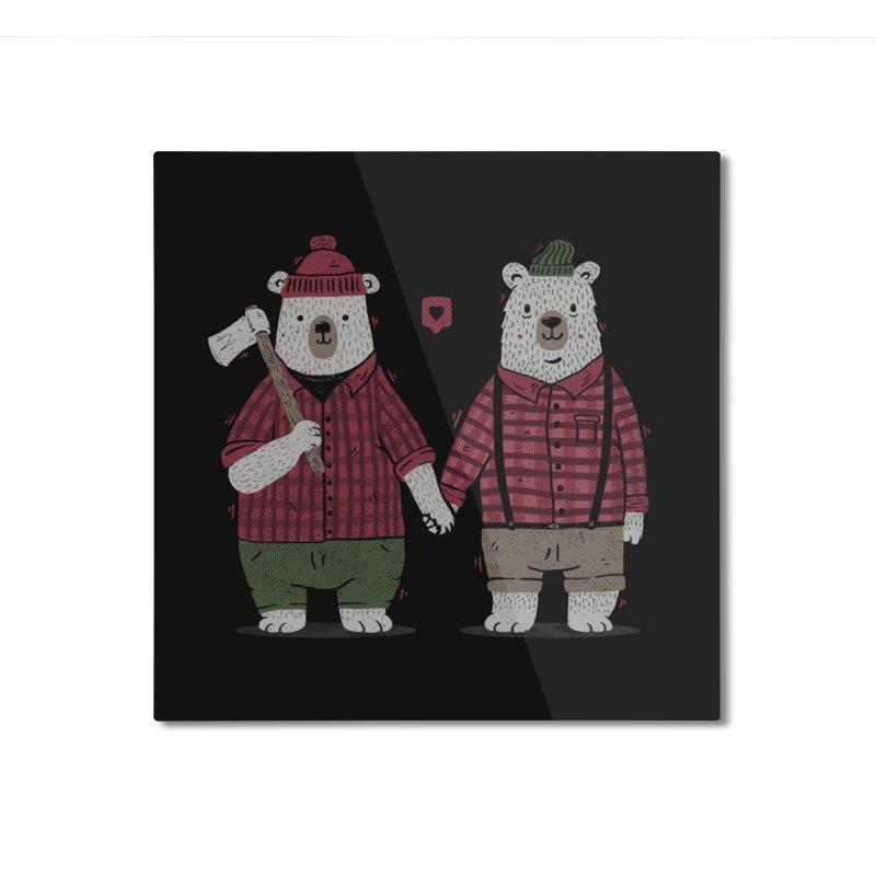 My Bear Valentine Home Mounted Aluminum Print by Tobe Fonseca's Artist Shop