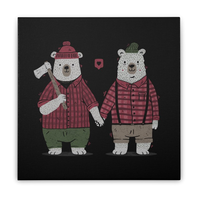 My Bear Valentine Home Stretched Canvas by Tobe Fonseca's Artist Shop