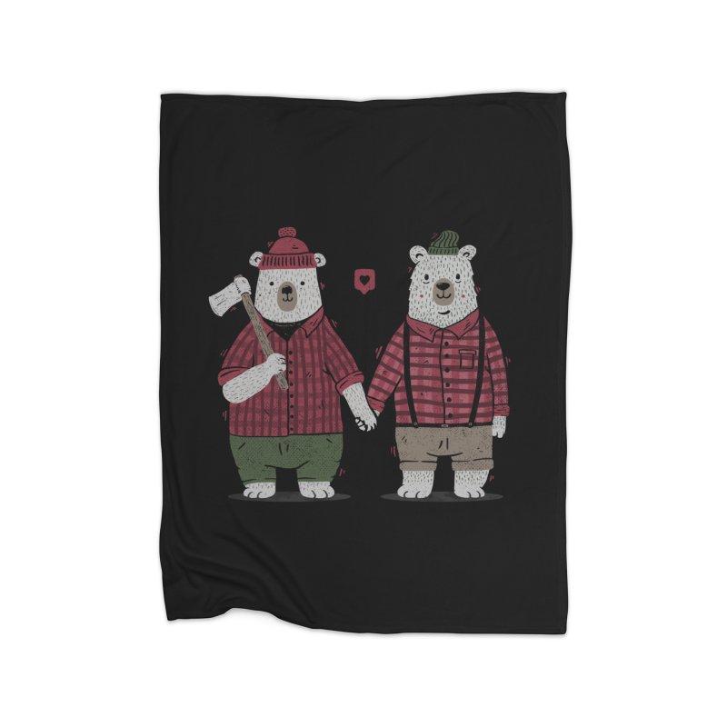 My Bear Valentine Home Blanket by Tobe Fonseca's Artist Shop