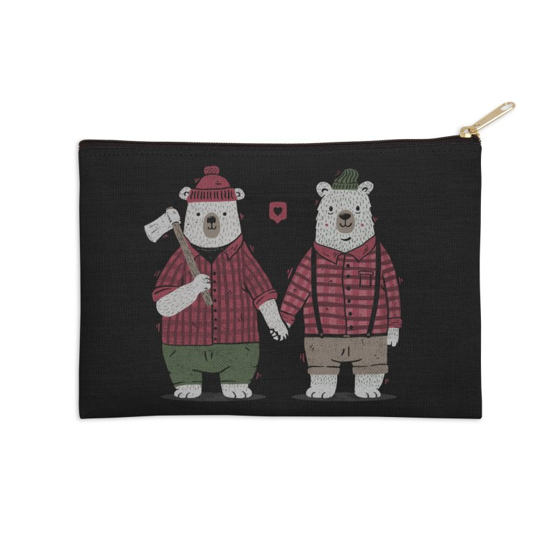 My Bear Valentine Accessories Zip Pouch by Tobe Fonseca's Artist Shop
