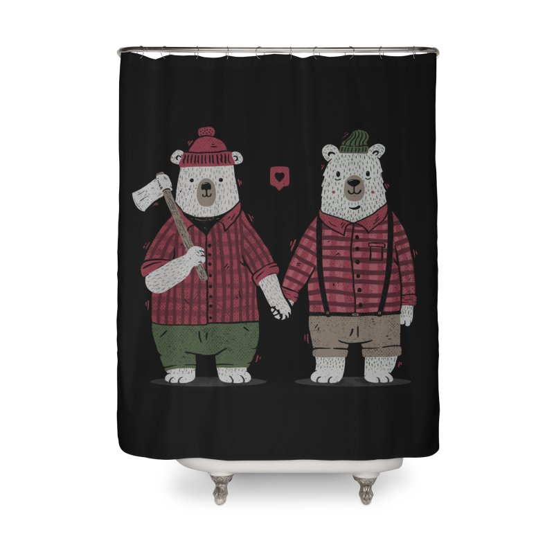 My Bear Valentine Home Shower Curtain by Tobe Fonseca's Artist Shop