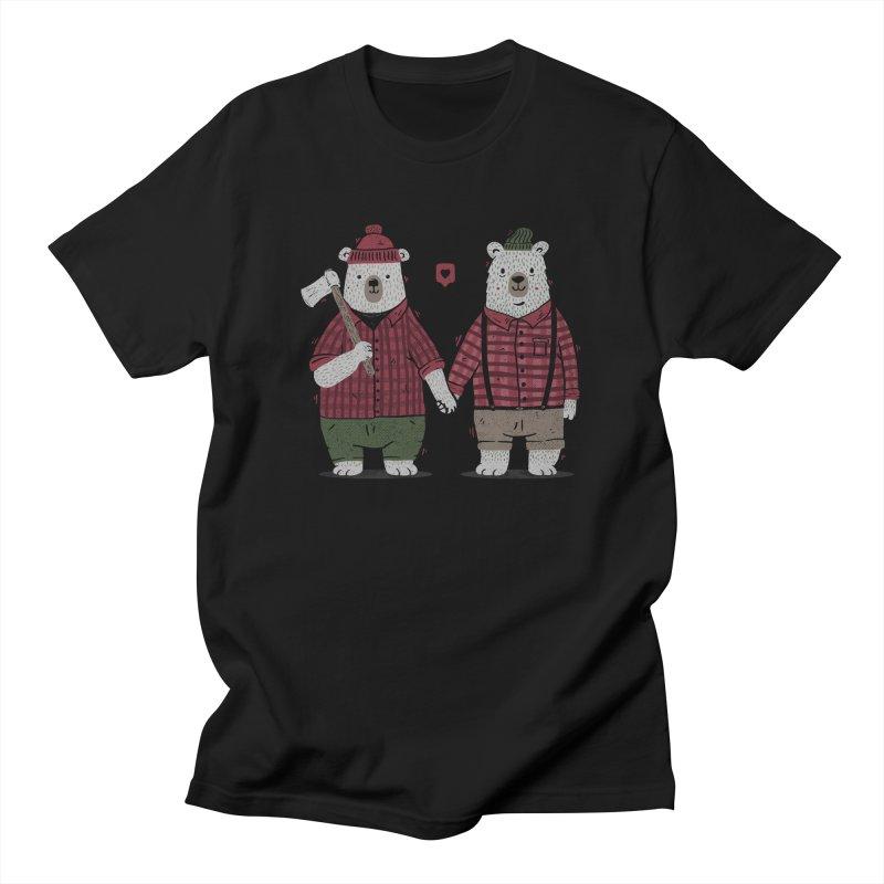 My Bear Valentine in Men's Regular T-Shirt Black by Tobe Fonseca's Artist Shop