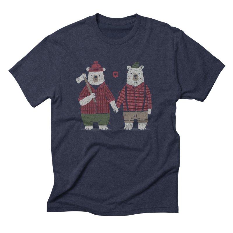 My Bear Valentine Men's Triblend T-Shirt by Tobe Fonseca's Artist Shop
