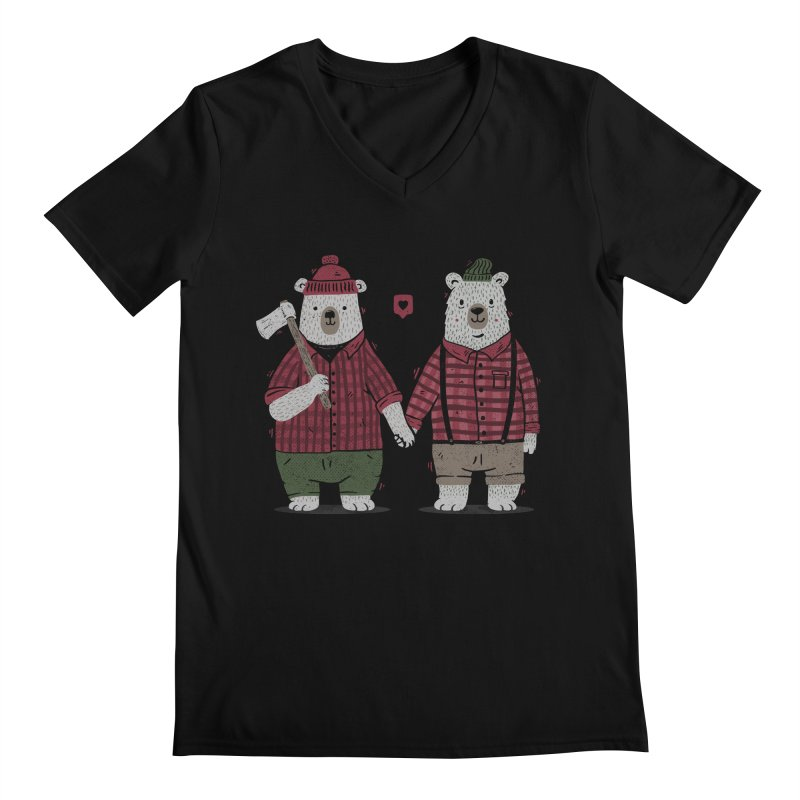 My Bear Valentine Men's V-Neck by Tobe Fonseca's Artist Shop