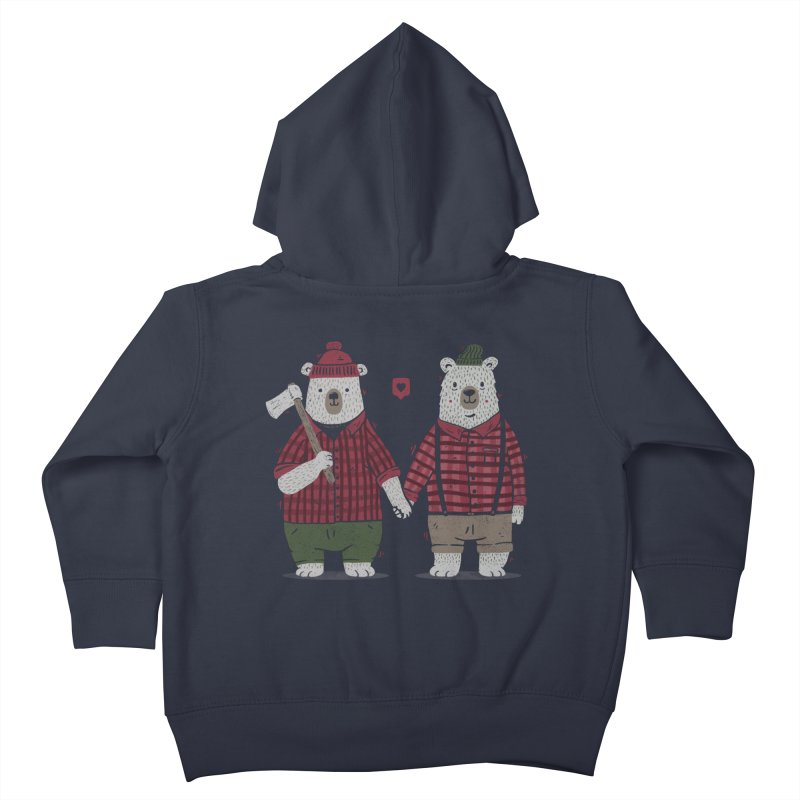 My Bear Valentine Kids Toddler Zip-Up Hoody by Tobe Fonseca's Artist Shop