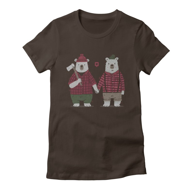 My Bear Valentine Women's Fitted T-Shirt by Tobe Fonseca's Artist Shop