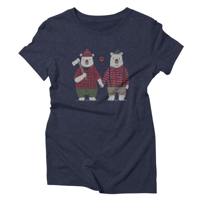 My Bear Valentine Women's Triblend T-Shirt by Tobe Fonseca's Artist Shop