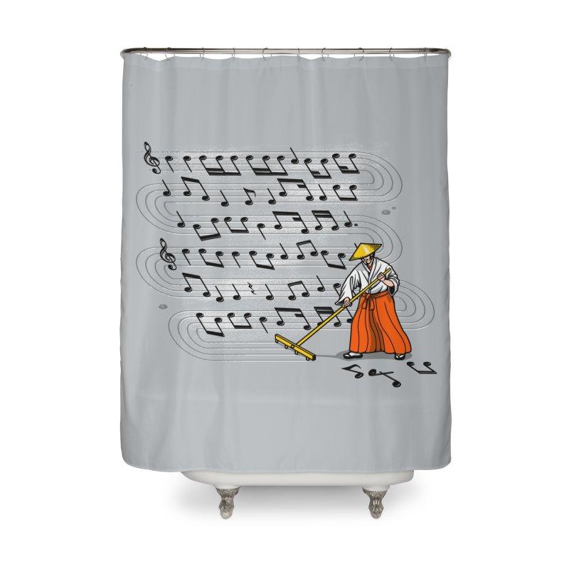 Japanese Zen Garden Song Home Shower Curtain by Tobe Fonseca's Artist Shop