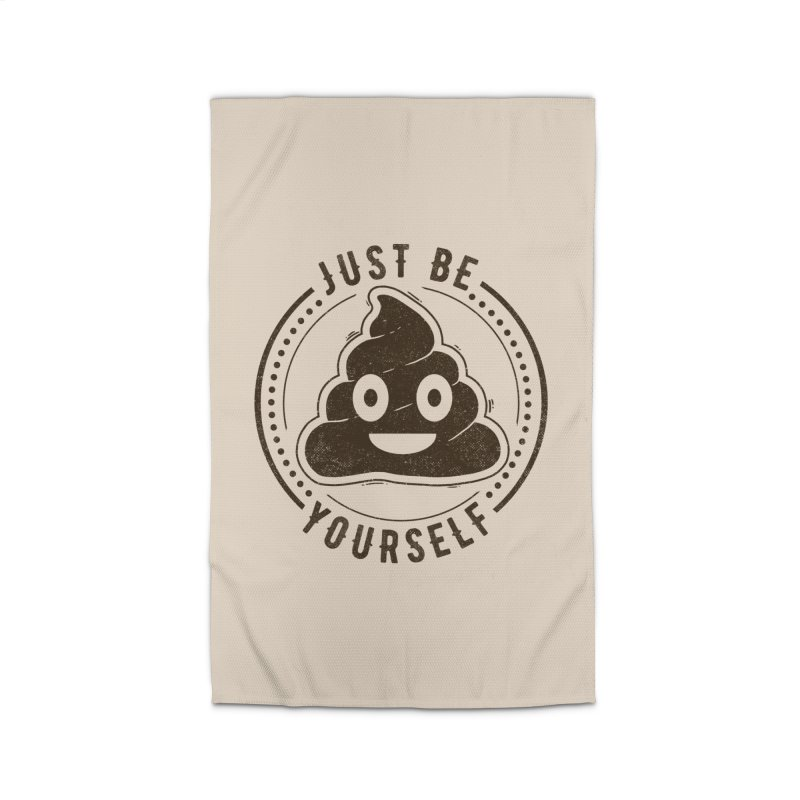 Just Be Yourself Poo Home Rug by Tobe Fonseca's Artist Shop
