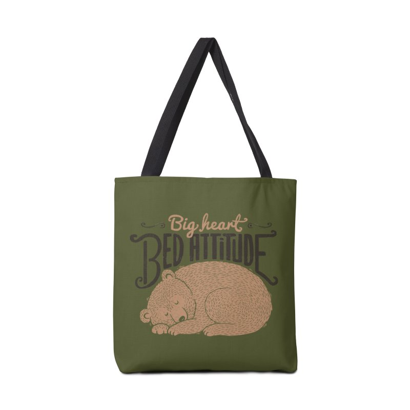 Big Heart Bed Attitude Accessories Bag by Tobe Fonseca's Artist Shop