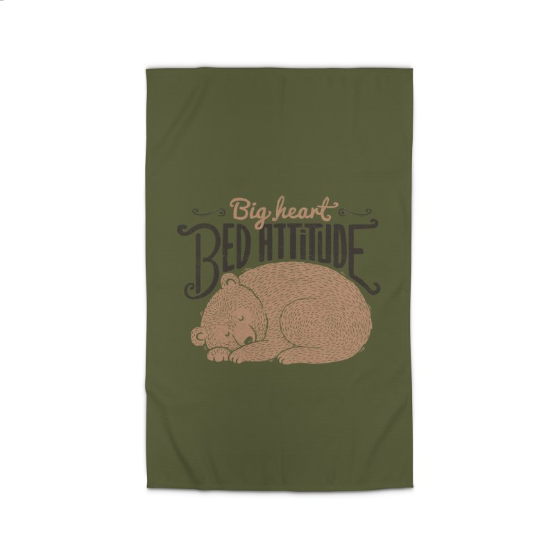 Big Heart Bed Attitude Home Rug by Tobe Fonseca's Artist Shop