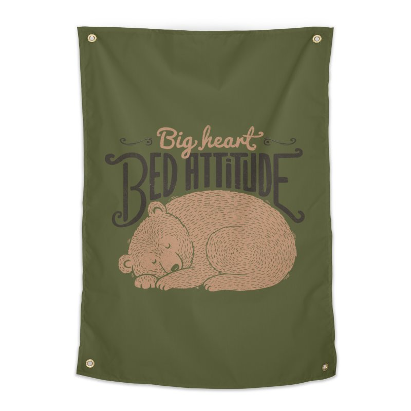 Big Heart Bed Attitude Home Tapestry by Tobe Fonseca's Artist Shop