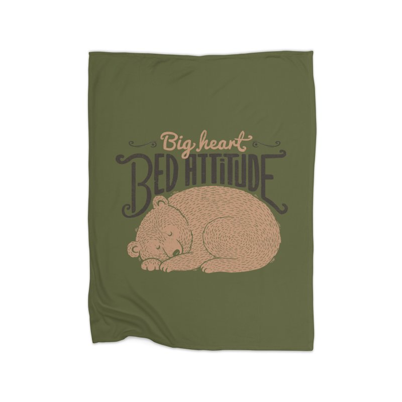 Big Heart Bed Attitude Home Blanket by Tobe Fonseca's Artist Shop