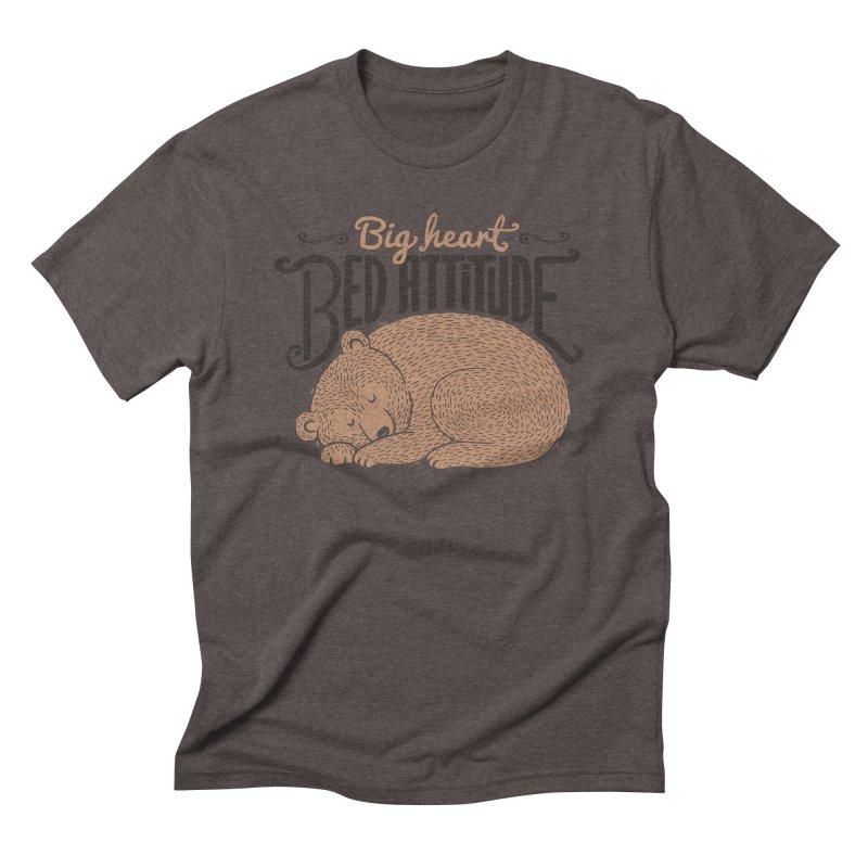 Big Heart Bed Attitude Men's Triblend T-Shirt by Tobe Fonseca's Artist Shop