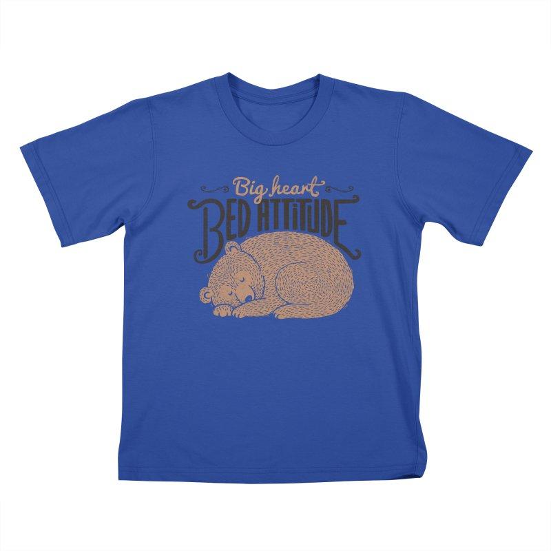 Big Heart Bed Attitude Kids T-Shirt by Tobe Fonseca's Artist Shop