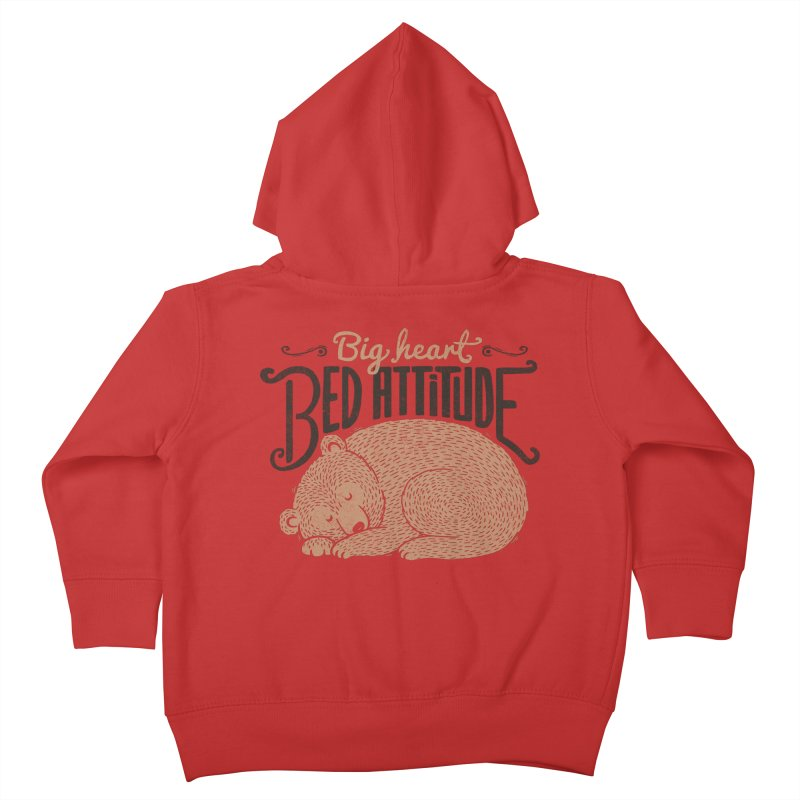 Big Heart Bed Attitude Kids Toddler Zip-Up Hoody by Tobe Fonseca's Artist Shop