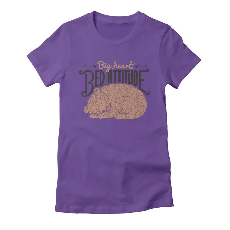 Big Heart Bed Attitude Women's Fitted T-Shirt by Tobe Fonseca's Artist Shop