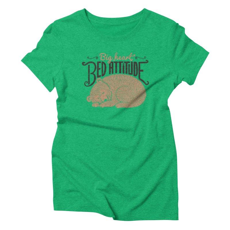 Big Heart Bed Attitude Women's Triblend T-Shirt by Tobe Fonseca's Artist Shop