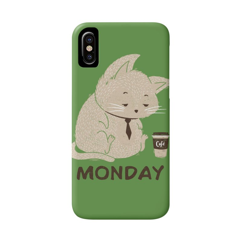 Monday Cat Accessories Phone Case by Tobe Fonseca's Artist Shop