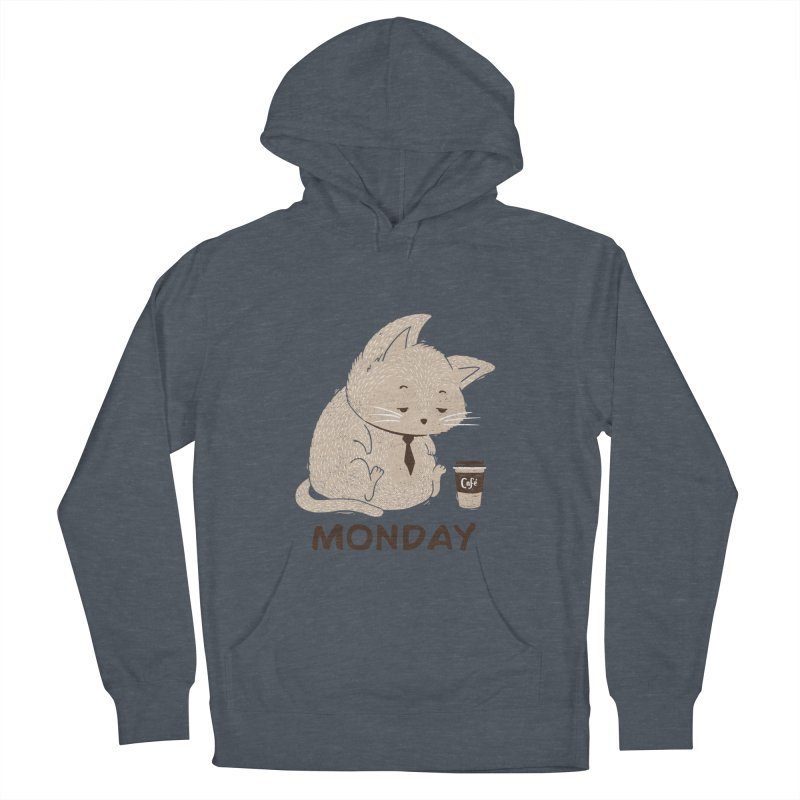Monday Cat Women's Pullover Hoody by Tobe Fonseca's Artist Shop