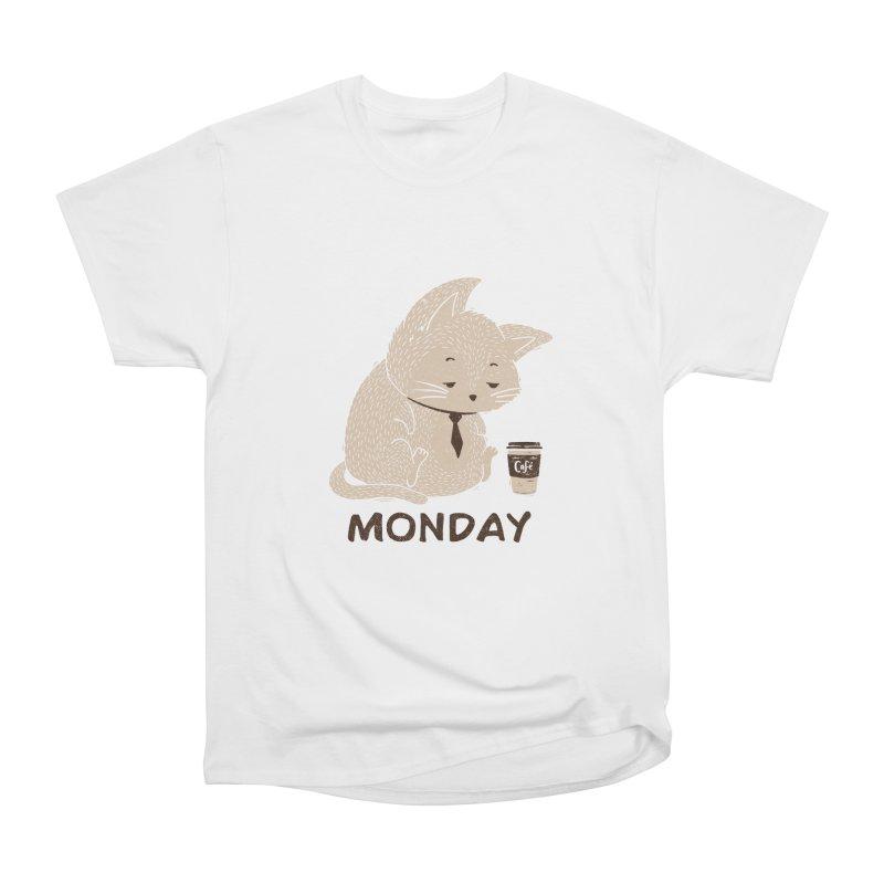 Monday Cat Women's Classic Unisex T-Shirt by Tobe Fonseca's Artist Shop