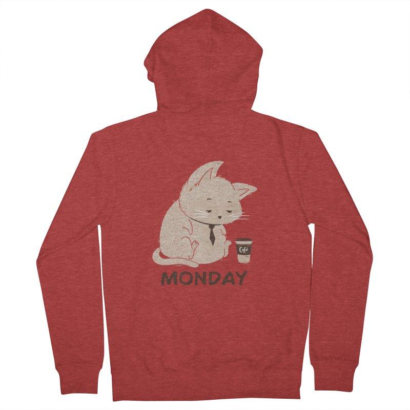 Monday Cat Women's Zip-Up Hoody by Tobe Fonseca's Artist Shop