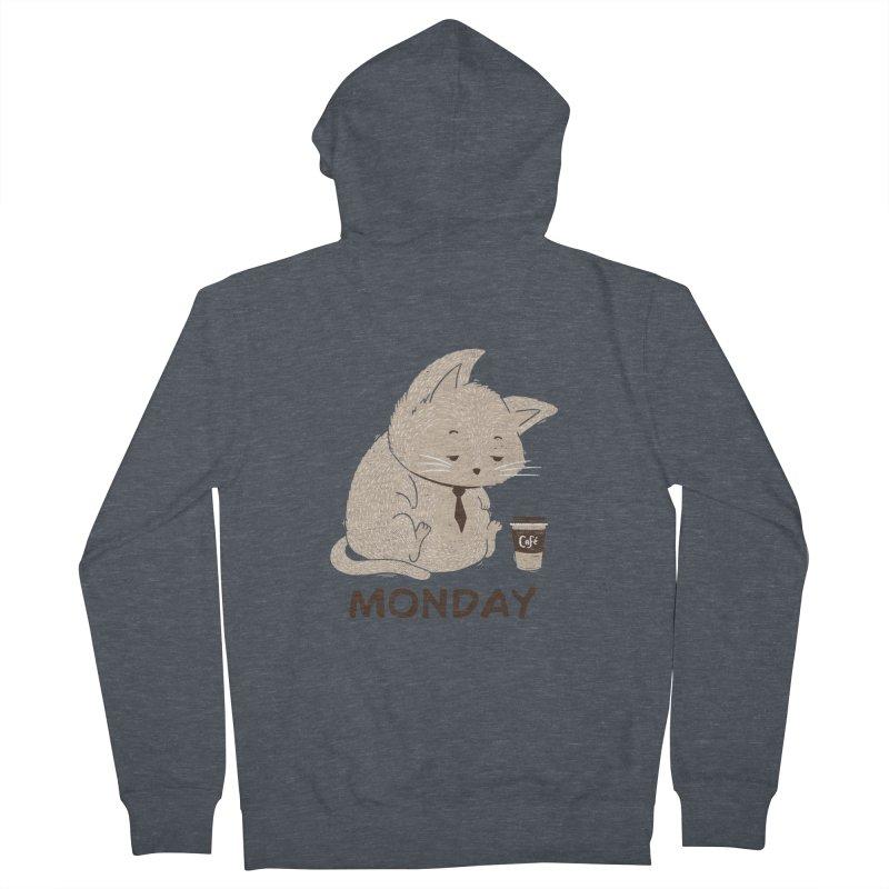 Monday Cat Men's Zip-Up Hoody by Tobe Fonseca's Artist Shop