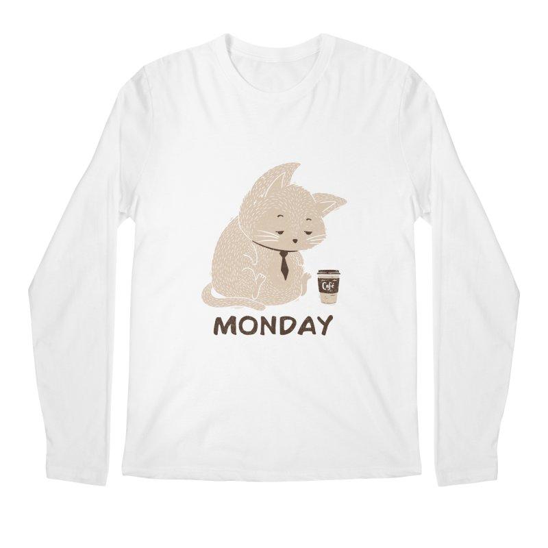 Monday Cat Men's Longsleeve T-Shirt by Tobe Fonseca's Artist Shop