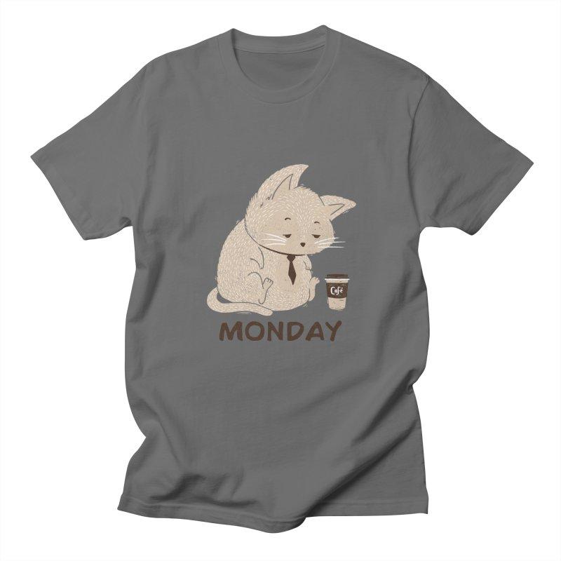 Monday Cat Men's T-Shirt by Tobe Fonseca's Artist Shop