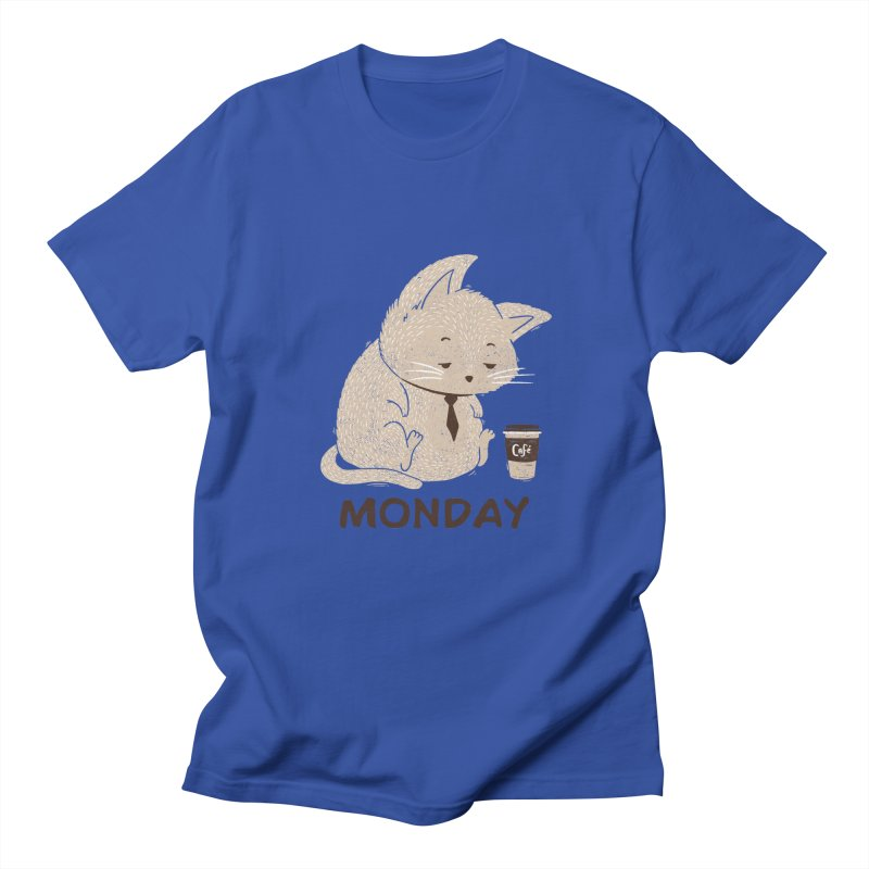 Monday Cat Men's T-Shirt by Tobe Fonseca's Artist Shop