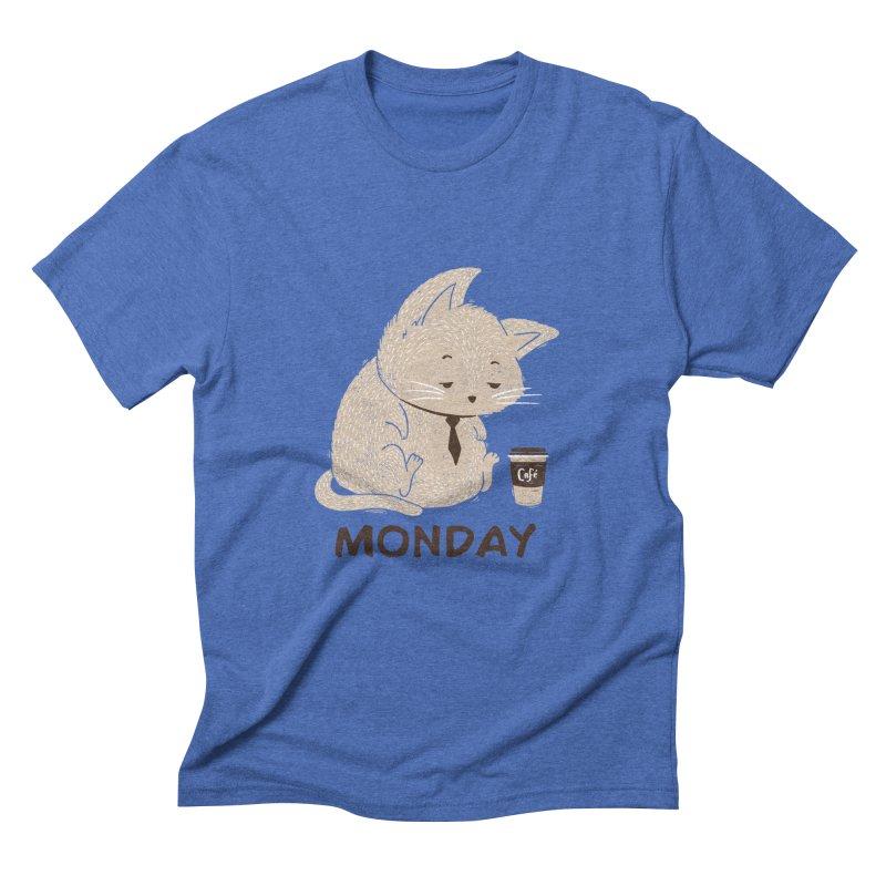Monday Cat Men's Triblend T-Shirt by Tobe Fonseca's Artist Shop