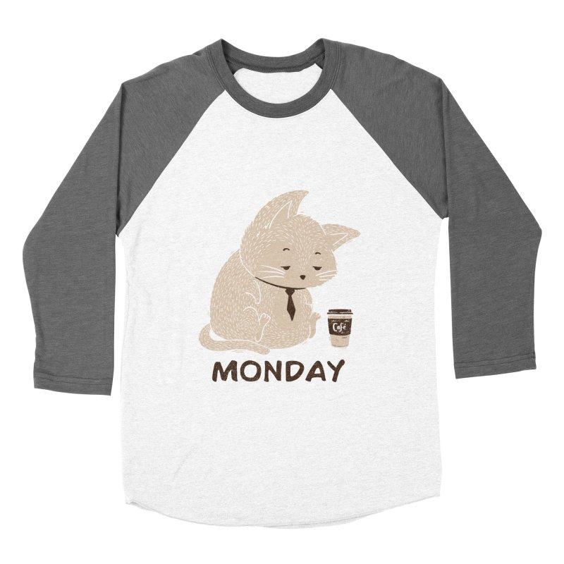 Monday Cat Women's Baseball Triblend T-Shirt by Tobe Fonseca's Artist Shop