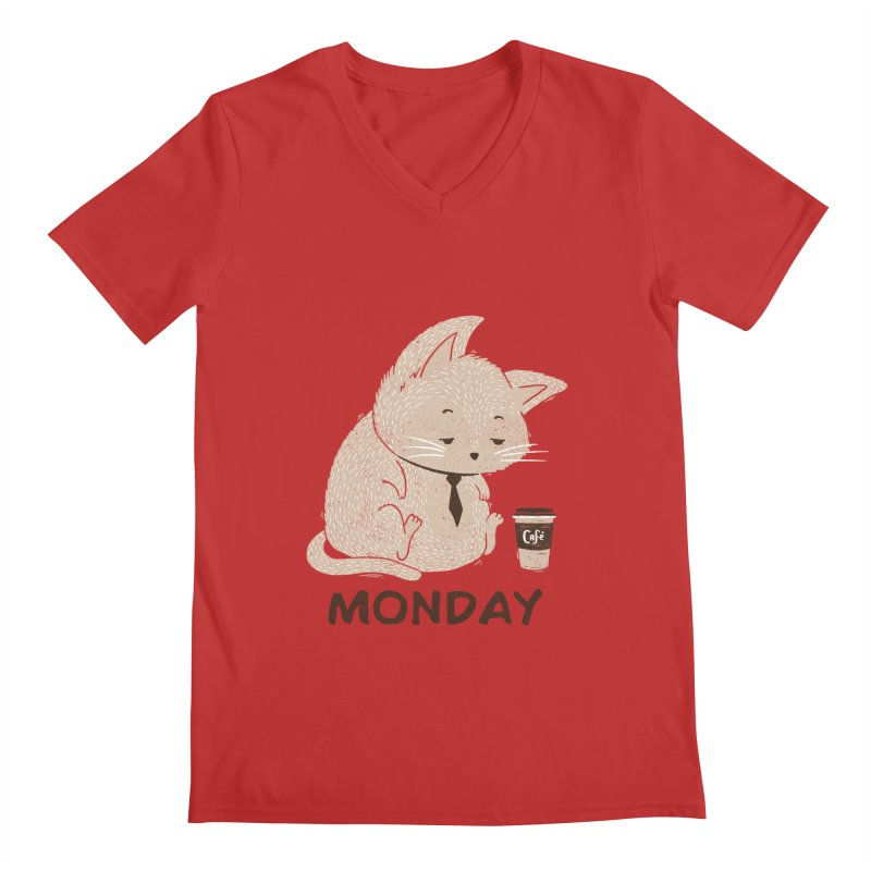 Monday Cat Men's V-Neck by Tobe Fonseca's Artist Shop
