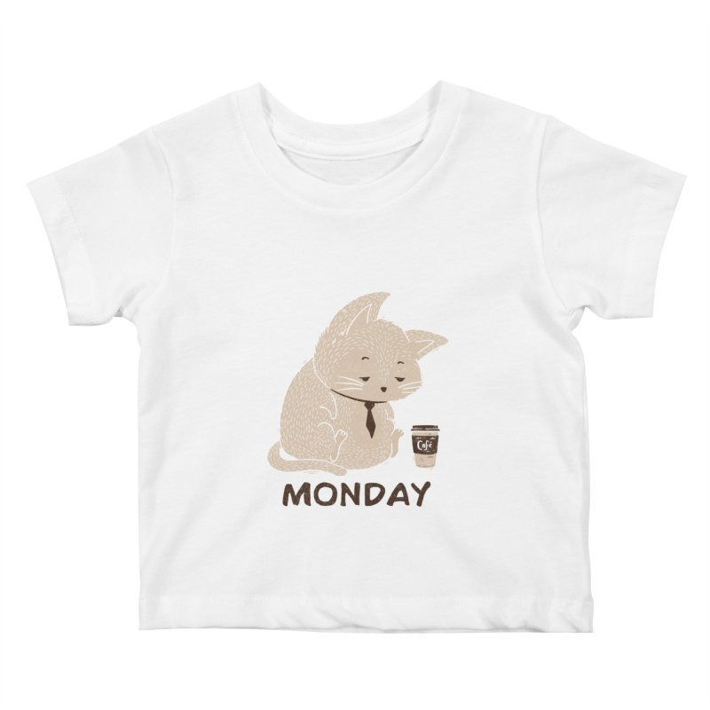 Monday Cat Kids Baby T-Shirt by Tobe Fonseca's Artist Shop