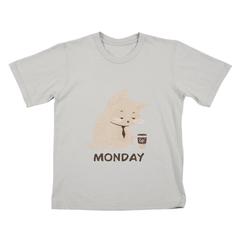 Monday Cat Kids T-Shirt by Tobe Fonseca's Artist Shop
