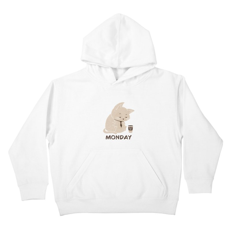 Monday Cat Kids Pullover Hoody by Tobe Fonseca's Artist Shop