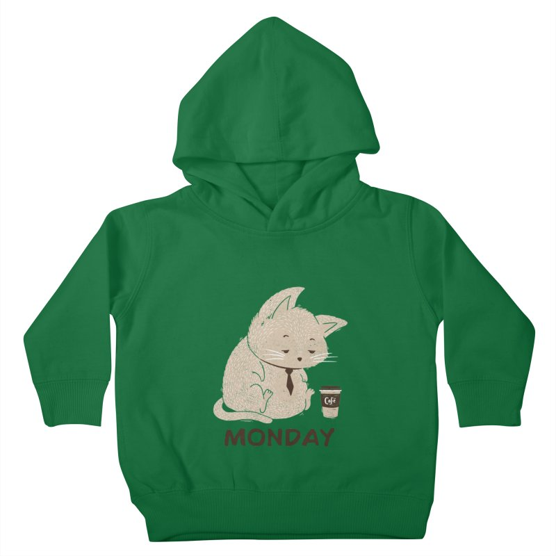 Monday Cat Kids Toddler Pullover Hoody by Tobe Fonseca's Artist Shop
