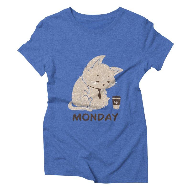 Monday Cat Women's Triblend T-Shirt by Tobe Fonseca's Artist Shop
