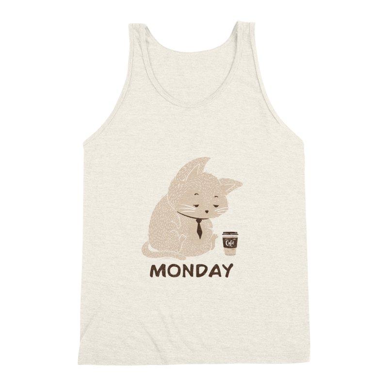 Monday Cat Men's Triblend Tank by Tobe Fonseca's Artist Shop