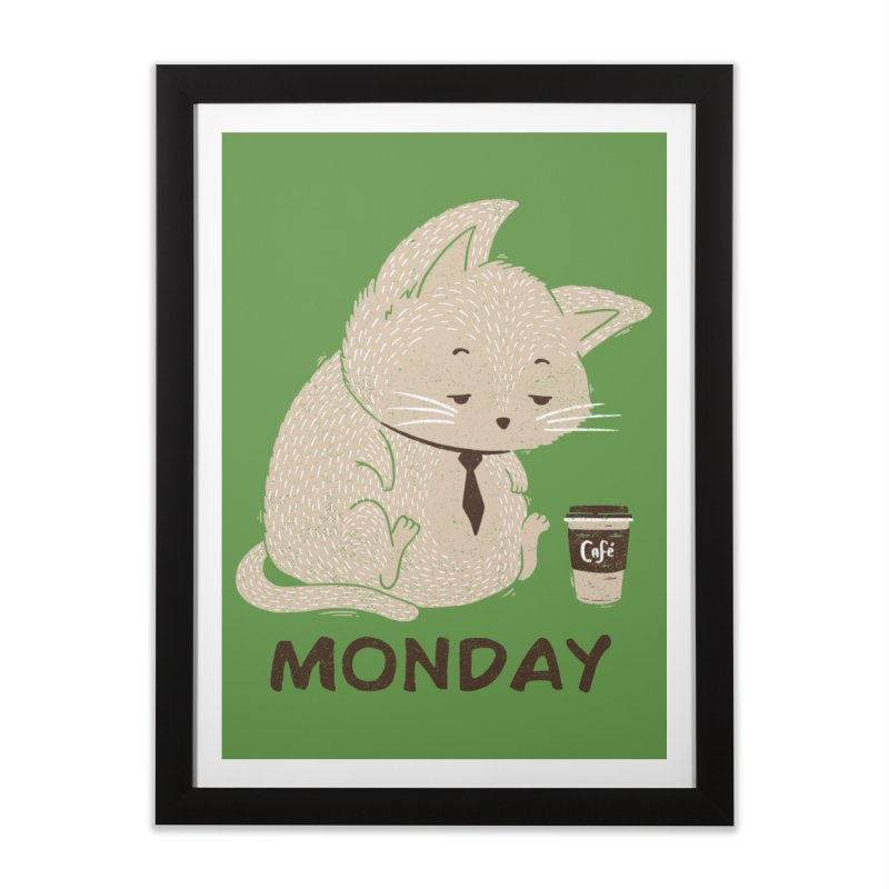 Monday Cat Home Framed Fine Art Print by Tobe Fonseca's Artist Shop