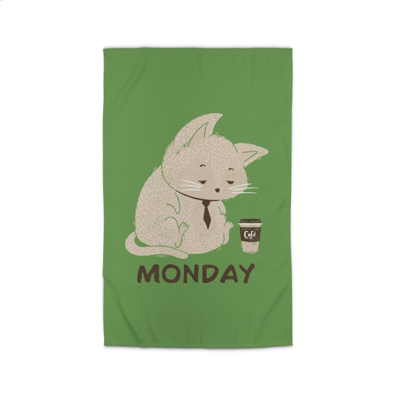 Monday Cat Home Rug by Tobe Fonseca's Artist Shop
