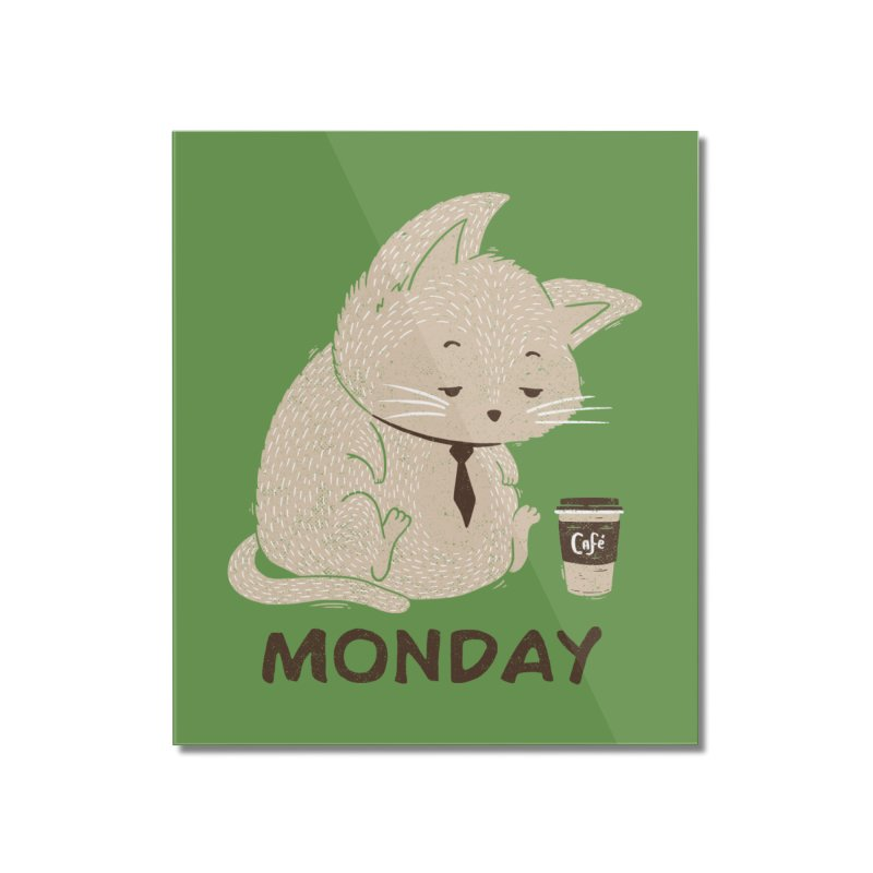 Monday Cat Home Mounted Acrylic Print by Tobe Fonseca's Artist Shop