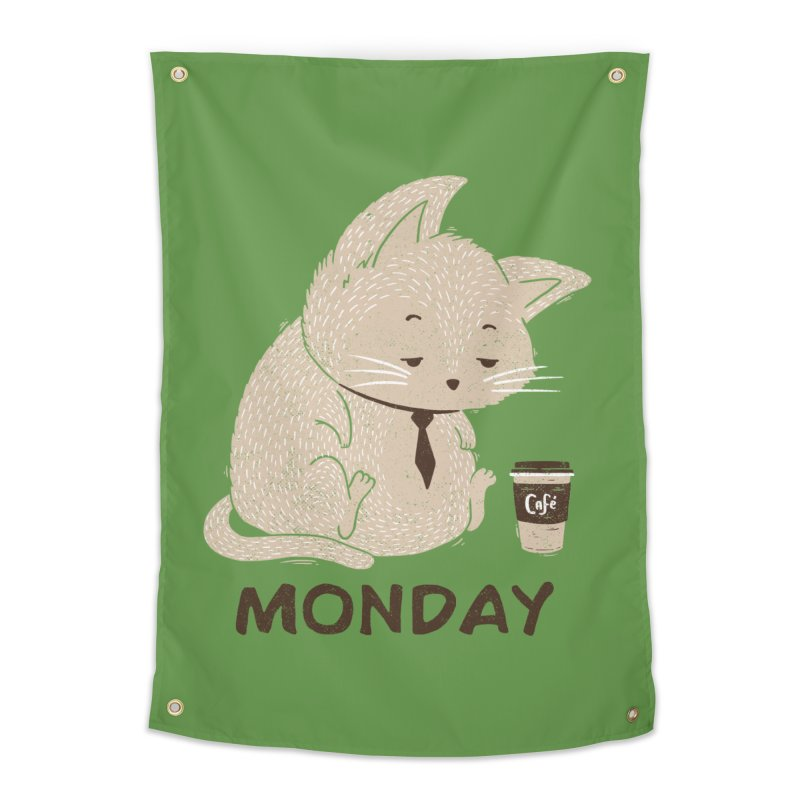 Monday Cat Home Tapestry by Tobe Fonseca's Artist Shop