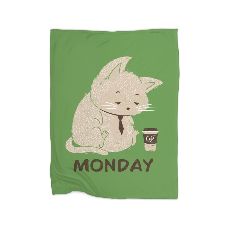 Monday Cat Home Blanket by Tobe Fonseca's Artist Shop
