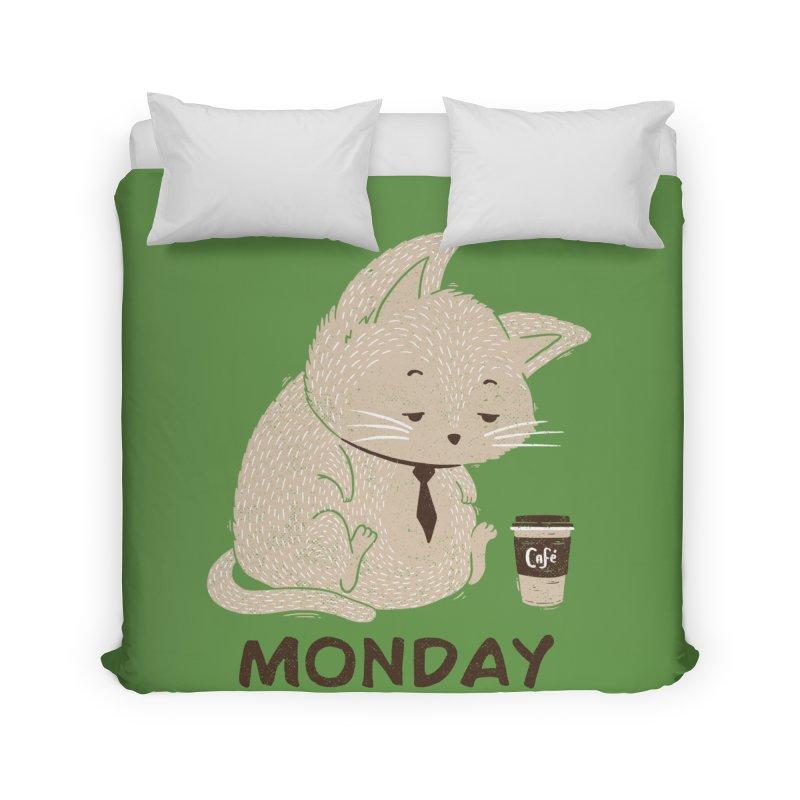 Monday Cat Home Duvet by Tobe Fonseca's Artist Shop
