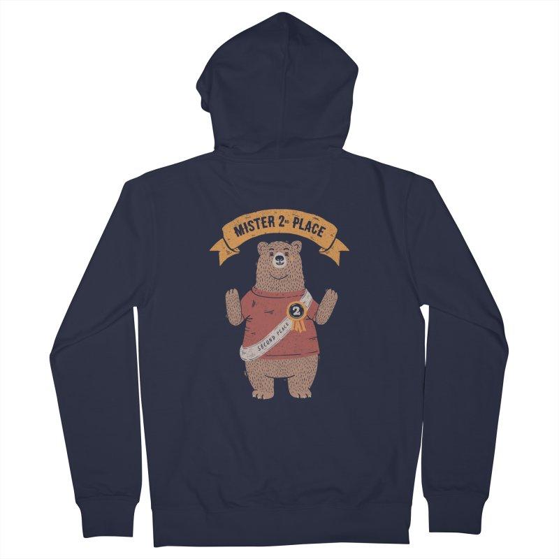 2nd Place Bear Men's Zip-Up Hoody by Tobe Fonseca's Artist Shop