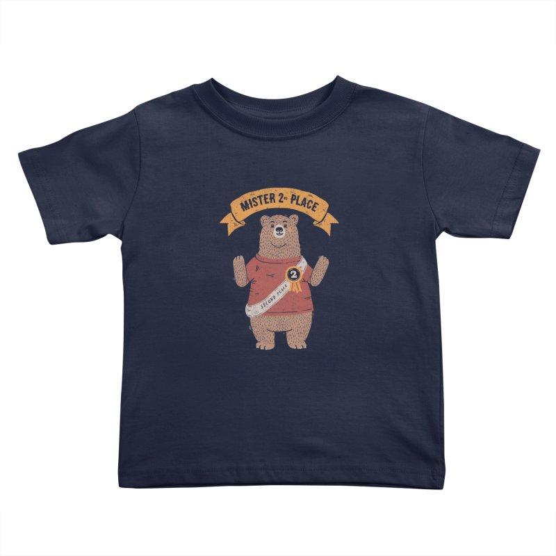 2nd Place Bear Kids Toddler T-Shirt by Tobe Fonseca's Artist Shop