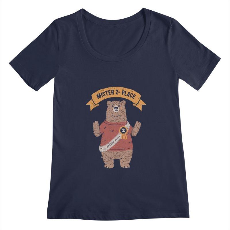 2nd Place Bear Women's Scoopneck by Tobe Fonseca's Artist Shop