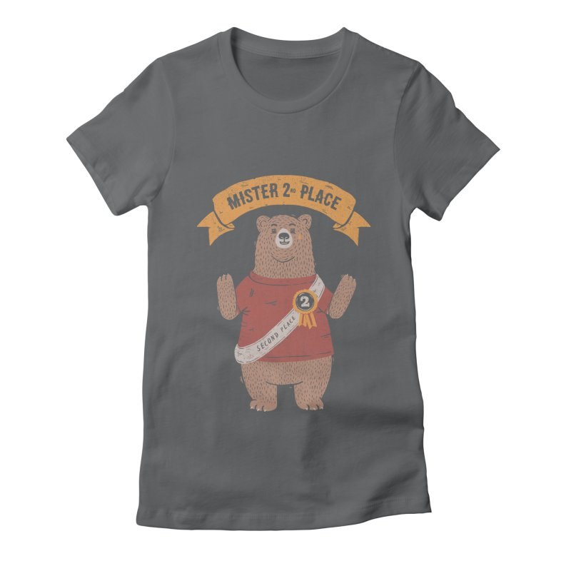 2nd Place Bear Women's Fitted T-Shirt by Tobe Fonseca's Artist Shop