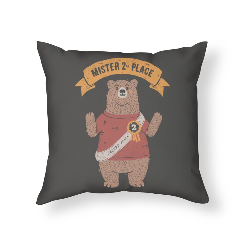 2nd Place Bear Home Throw Pillow by Tobe Fonseca's Artist Shop